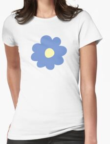 Flowers, Blossoms, Blooms, Petals - Blue Yellow Womens Fitted T-Shirt