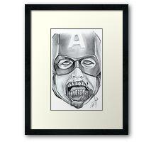 Zombie Avenger - Captain America Framed Print