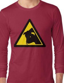 Caution: Bull Long Sleeve T-Shirt