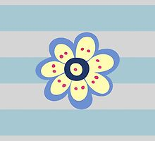 Flowers, Blossoms, Blooms, Petals - Blue Yellow by sitnica
