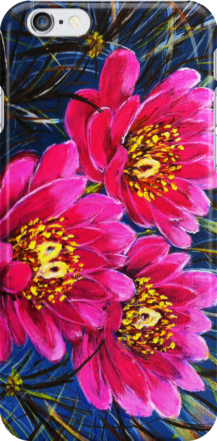 Cactus flower Iphone case by maggie326