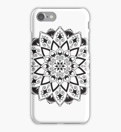 Mandala - Black/White iPhone Case/Skin