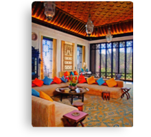 ottoman living room art Canvas Print