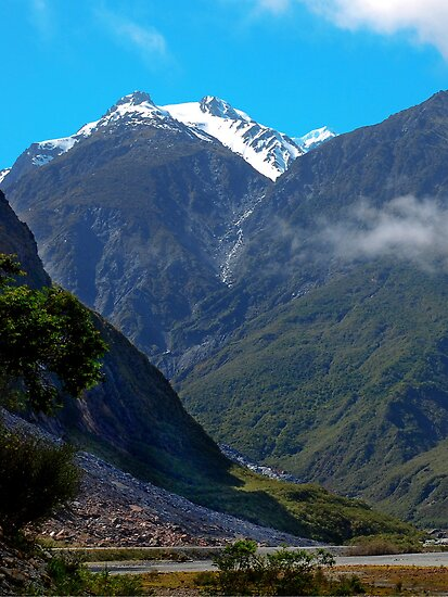 Mountain Scene, South Island, New Zealand by DavidsArt