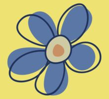 Flowers, Blossoms, Blooms, Petals - Blue Yellow Kids Tee