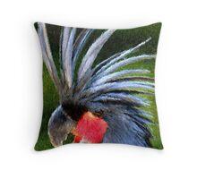 Black Palm Cockatoo Bird Poster Print & Card Throw Pillow