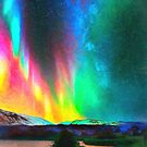 rainbow Aurora Borealis art by Adam Asar