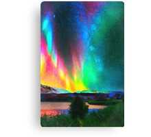 rainbow Aurora Borealis art Canvas Print