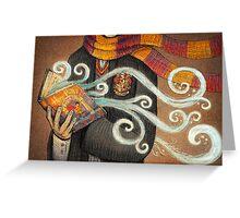 Harry Potter Books Magic Greeting Card