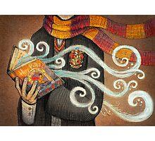 Harry Potter Books Magic Photographic Print