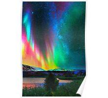 rainbow Aurora Borealis art2 Poster