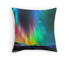 rainbow Aurora Borealis art2 Throw Pillow