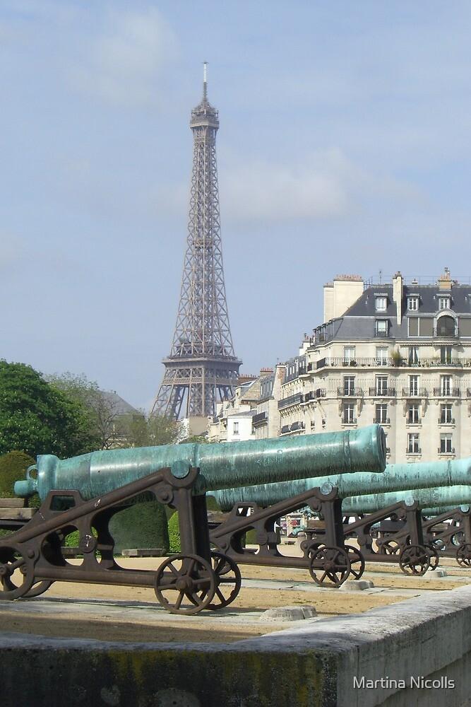 Cannon fire, Paris by Martina Nicolls