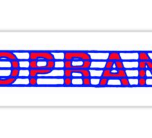 Soprano Red White & Blue Sticker