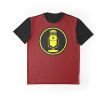 Vintage Microphone Yellow Black Graphic T-Shirt