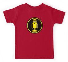 Vintage Microphone Yellow Black Kids Tee