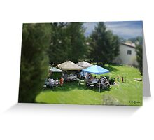Lawn Party Miniatures Greeting Card