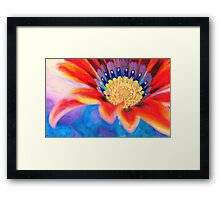 Red flower close up art Framed Print