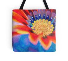 Red flower close up art Tote Bag
