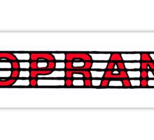 Soprano Red  Sticker