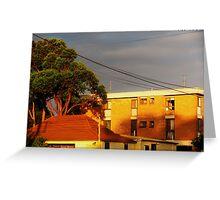 Sunny Apartments Greeting Card