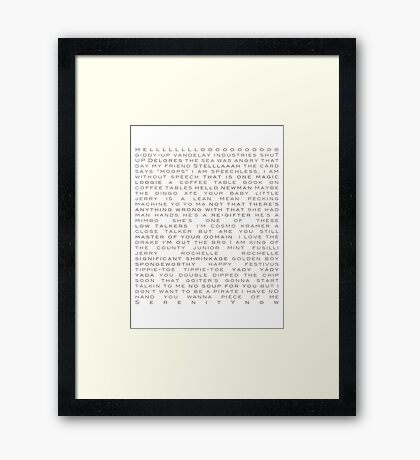 Seinfeld Quotes Framed Print