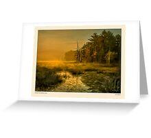 Golden mist, Dambrasca Maine Greeting Card