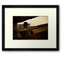 Outback Hippo Framed Print