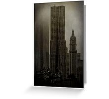 Concrete, Steel, Glass and Fog Greeting Card