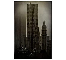 Concrete, Steel, Glass and Fog Photographic Print