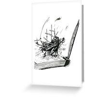 Bookship Greeting Card
