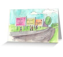 School Poster  cold symptoms Greeting Card