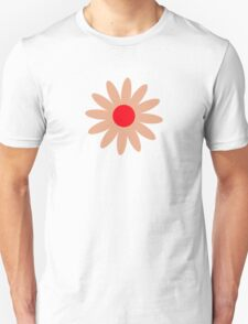 Flowers, Blossoms, Blooms, Petals - Brown Red Unisex T-Shirt