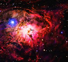 Space -Lagoon Nebula 2 art by Adam Asar
