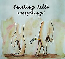 smoking kills everything art by Adam Asar