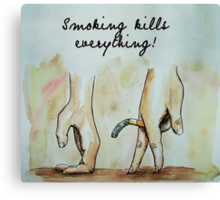 smoking kills everything art Canvas Print