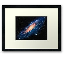 Space m31 spyral galaxy art Framed Print