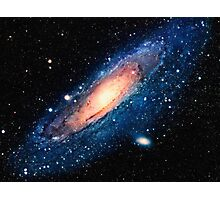 Space m31 spyral galaxy art Photographic Print