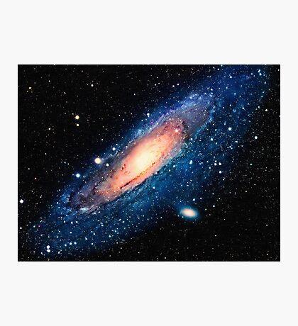 Space m31 spyral galaxy art Photographic Print
