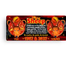 Chinese zodiac Fire Sheep 1967,2027 Canvas Print
