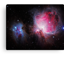 Space M42  Great Orion Nebula  Ghost Nebula Canvas Print