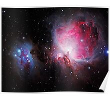 Space M42  Great Orion Nebula  Ghost Nebula Poster