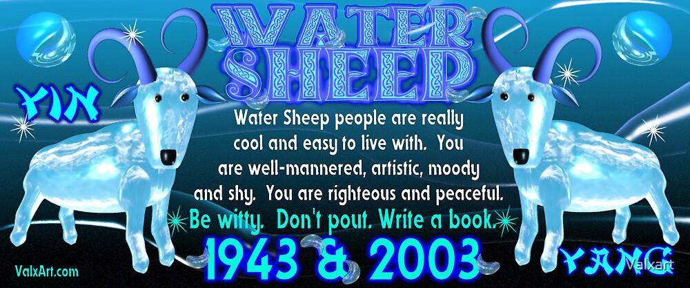 Chinese Zodiac, water sheep, 1943, 2003, born, by Valxart
