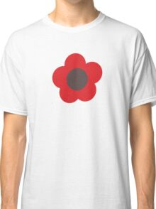 Flowers, Blossoms, Blooms, Petals - Brown Red Classic T-Shirt