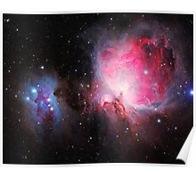 Space M42  Great Orion Nebula  Ghost Nebula art Poster