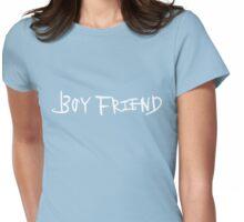Boyfriend White Logo Womens Fitted T-Shirt