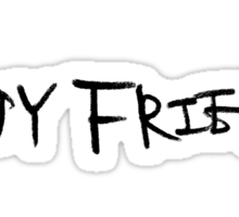 Boyfriend Black Logo Sticker