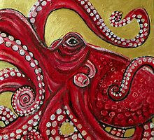 Red Octopus by Lynnette Shelley