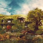 The Shire, A Hobbit House by gingerkelly