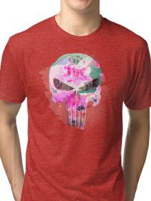 Bright Punisher Skull Tri-blend T-Shirt